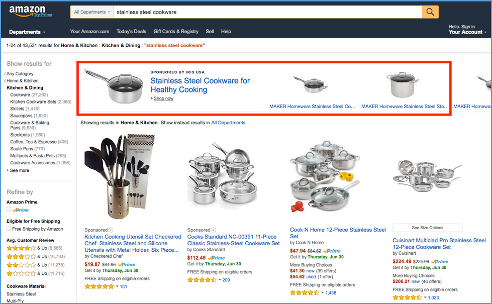 Headline amazon sponsored ads