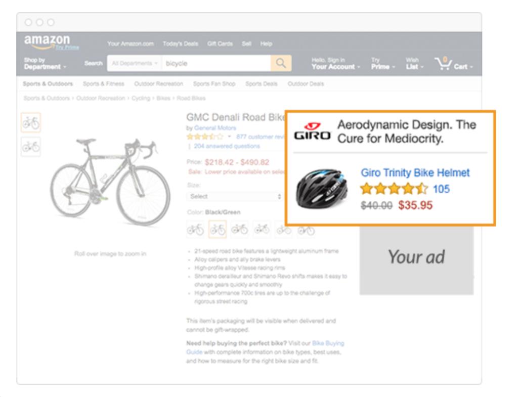 amazon product display ad
