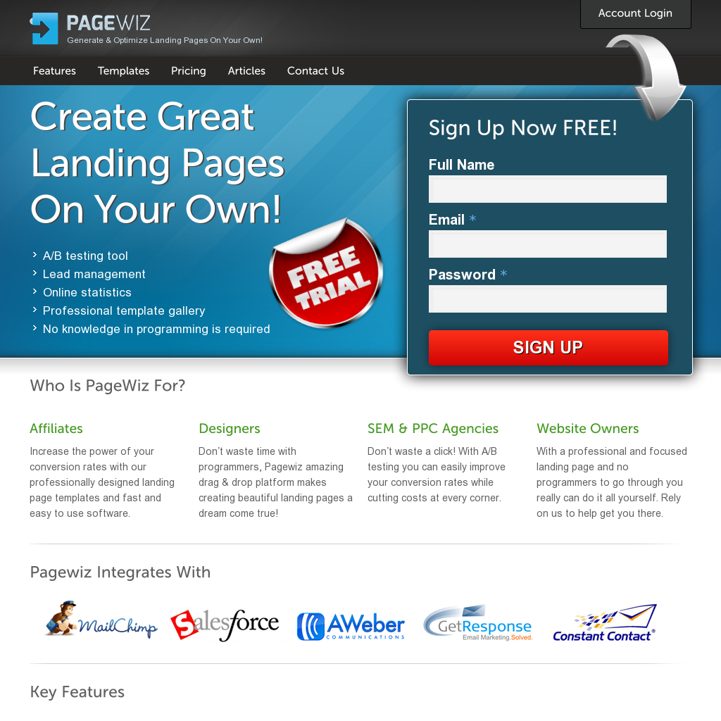 best squeeze page software